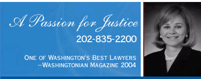 A Passion for Justice | 202-835-2200 | One of Washington's Best Lawyers -- Washingtonian Magazine 2004